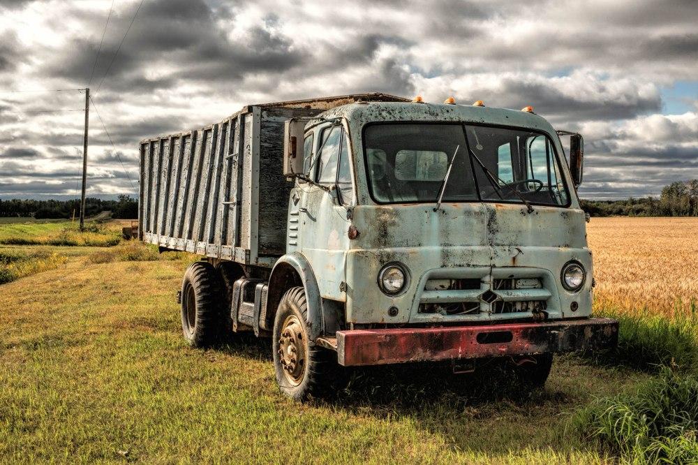 Vintage Grain Truck - Near Manning, Alberta
