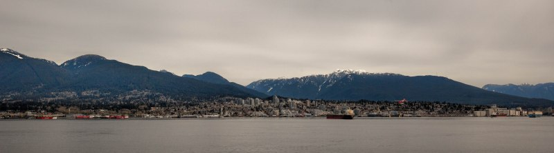 Look-back image, Harbour – Vancouver, British Columbia, Canada